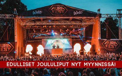 Edulliset joululiput kesän 2017 Aura Festiin nyt myynnissä!