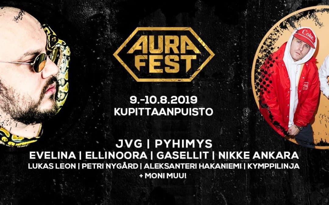 Aura Fest 2019 ensimmäiset esiintyjät on nyt julkistettu!