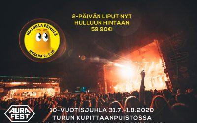 Aura Fest mukana Stockmannin Hulluilla Päivillä!