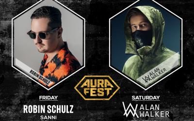 Alan Walker & Robin Schulz Turun kaupunkifestivaali Aura Festin pääesiintyjiksi!